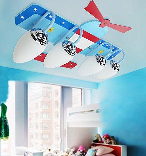 kinderzimmer deckenleuchte flugzeug lampe junge schlafzimmer ideen ... - Kinderzimmer Flugzeug