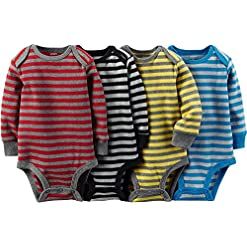 Carter's Unisex-Baby 4-Pack Long Sleeve Bodysuits 11