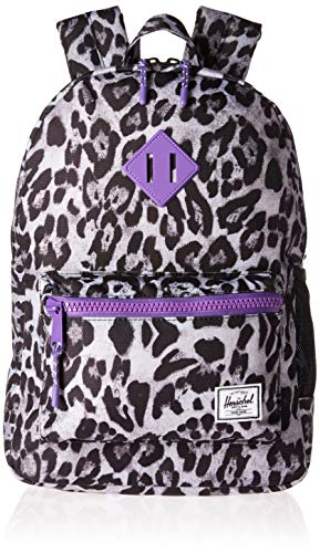 Lavender Leopard - Herschel Kids' Heritage Youth Children's Backpack Snow Leopard/Deep Lavender One Size