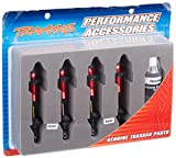 Traxxas 5460R Red-Anodized Aluminum GTR Shocks (fully assembled w o springs) (set of 4)
