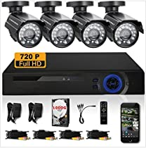 GOWE 720P HD 1200TVL 4 Outdoor Security Camera System 1080P HDMI CCTV Video Surveillance 8CH DVR Kit 1TB HDD AHD Camera Set