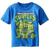 Teenage Mutant Ninja Turtles Big Boys' Group T-Shirt Shirt, Royal Heather, X-Large/ 18
