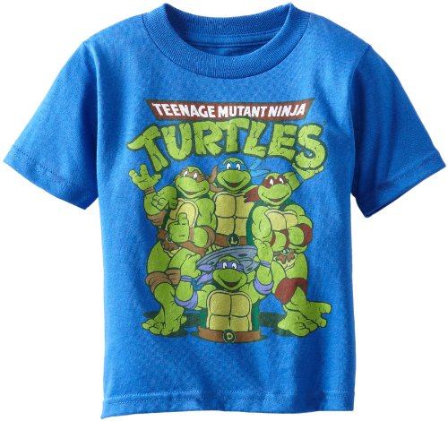 - Teenage Mutant Ninja Turtles Little Boys' Toddler Group T-Shirt, Royal Heather, 2T