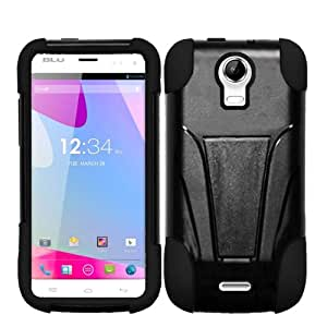 Highest Rated Wireless Inc.Fusion Cover Snap On Case for AT&T, T-Mobile, H2O, Net 10Blu Life Play S L150L -Black