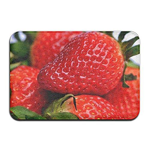 Wyuhmat1 Non-Slip Mat 40x60cm Doormat Strawberry Non-Slip Rug