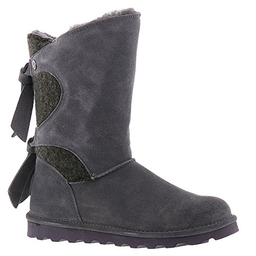 Wool Charcoal Women's Willow Rubber Boots Suede BEARPAW AgXY1qxg
