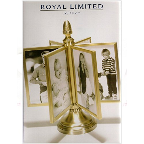 Royal Limited Silver Brushed Brass Photo Spin Frame (Spin Frame)