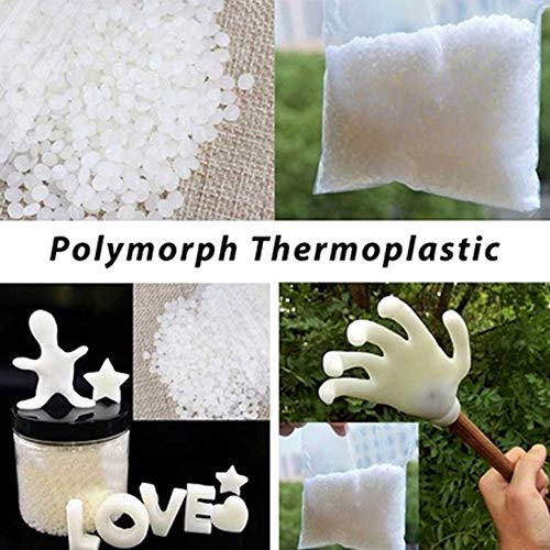 Hisoul Moldable Plastic Pellets 80°C Variant Plastic Polymorph Thermoplastic Pellets for DIY Home Ornament (C)