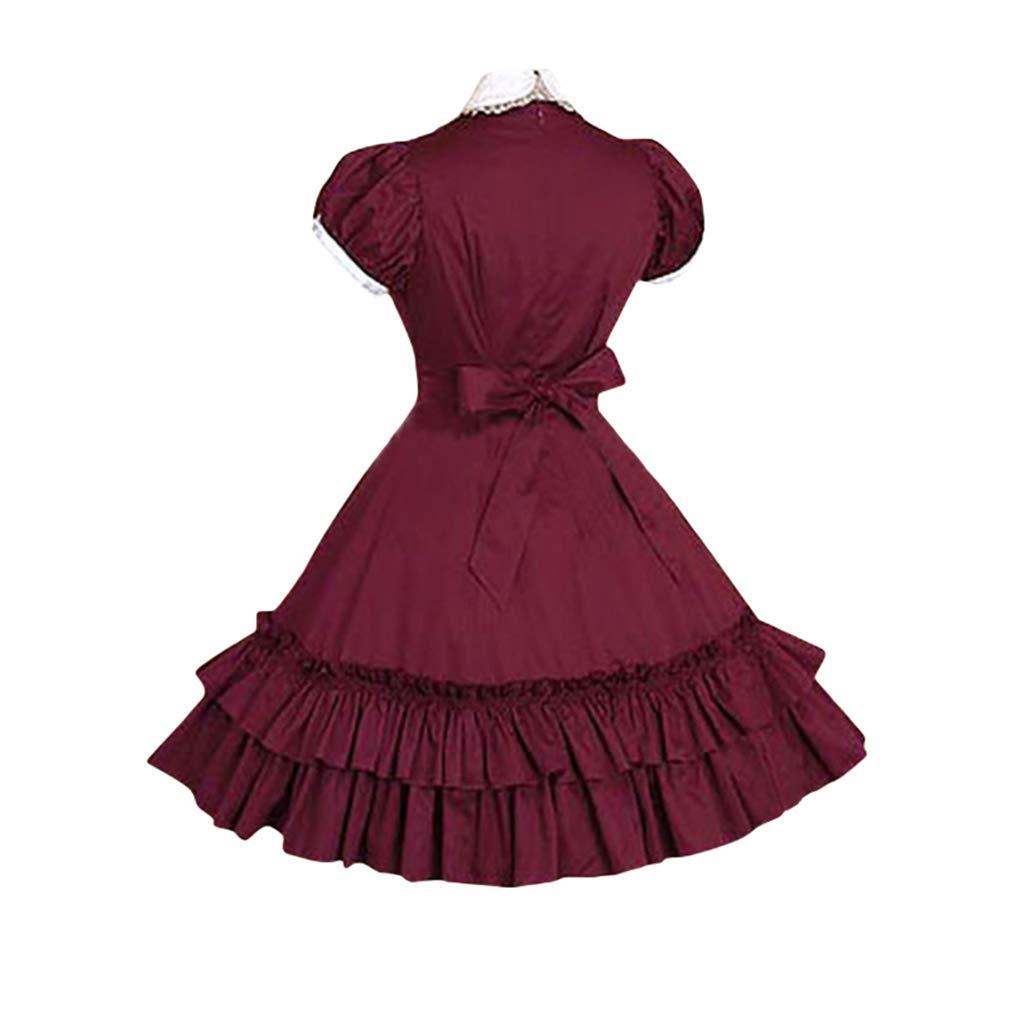 MEIHAOWEI Vestido Gótico Lolita Vestido Victoriano Princesa Dulce ...