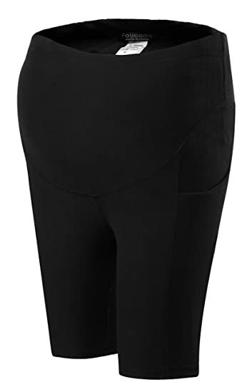 228180473a0e4 Maternity High Waist Shorts Underwear Active Workout Yoga Short Leggings  Over Bump Pregnancy Tights Pants with