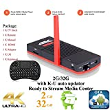 KUKELE 2017 Strongest Android TV Stick S912 Octa Core Internet Media Center Player [K-U Updator/2GB+32GB/4K/WIFI/Instruction/Wireless Keyboard]
