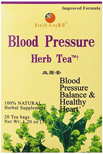 Herb Pressure Blood Tea (Health King Blood Pressure Herb Tea, 20 Count (Pack of 12))