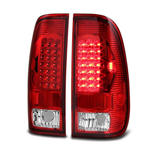 - VIPMOTOZ LED Tail Light Lamp Assembly For 1997-2003 Ford F-150 & 1999-2007 Ford Superduty F-250 F-350 Pickup Truck - Rosso Red Lens, Driver and Passenger Side
