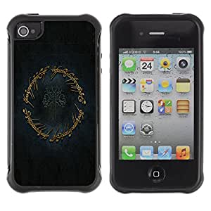 ZFresh Rugged Protective Case Cover The Ring - Apple Iphone 4 / 4S