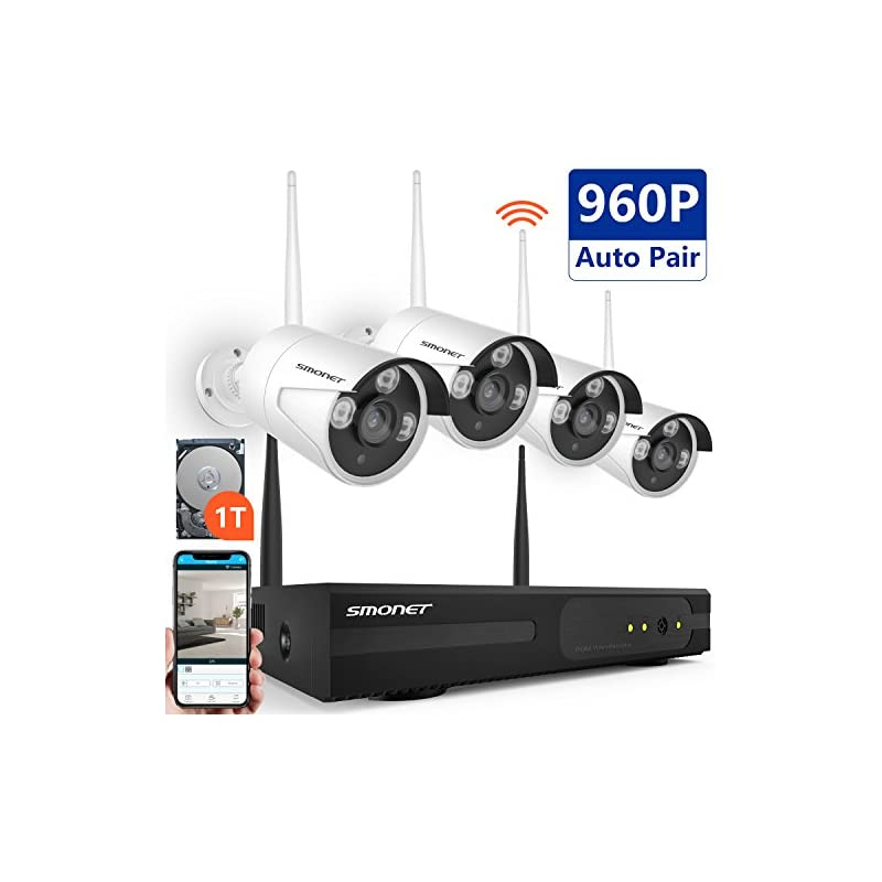 All in One Security Camera System Wireless,Safevant 4CH 1080P NVR Wireless ...