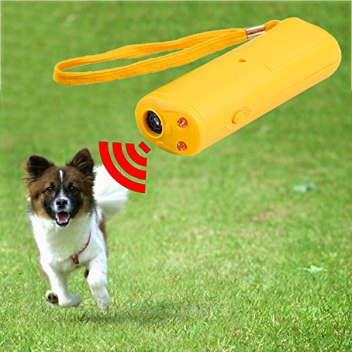 CCNN Pet Supplies 3 In 1 Anti Barking Stop Bark Ultrasonic Pet Dog Repeller Training Device Trainer With LED (Dog Stop Bark Ultrasonic)