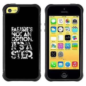LASTONE PHONE CASE / Suave Silicona Caso Carcasa de Caucho Funda para Apple Iphone 5C / failure is not an option poster text