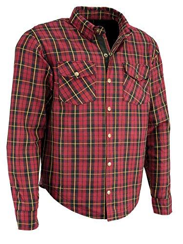 Milwaukee Performance Men's Checkered Flannel Biker Shirt With Aramid (Black/Red/Yellow, XL)