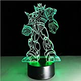 3D Illusion Transformers Night Light Lamp,7 Colors Gradual Changing Touch Switch USB Table Desk Autobots Lamp best for Gifts or Home Office Decorations