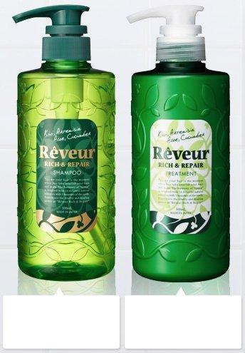 Reveur non silicon RICH & REPAIR SHAMPOO 500ml, TREATMENT 500ml (Japan Import)