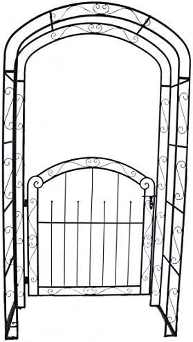 pforte con rosa arco, de metal, Metal Decoración – Puerta, Jardín De Las Puertas, Jardín, Jardín Decoración, Metal en aspecto oxidado: Amazon.es: Jardín