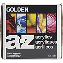 Golden A-Z Heavy Body Acrylic Paint Starter Set