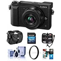 Panasonic Lumix DMC-GX85 Mirrorless Camera with Lumix G Vario 12-32mm f/3.5-5.6 ASPH Lens, Black - Bundle With Camera Case, 16GB SDHC Card, Cleaning Kit, 37mm Filter Kit, Memory Card, Software Package