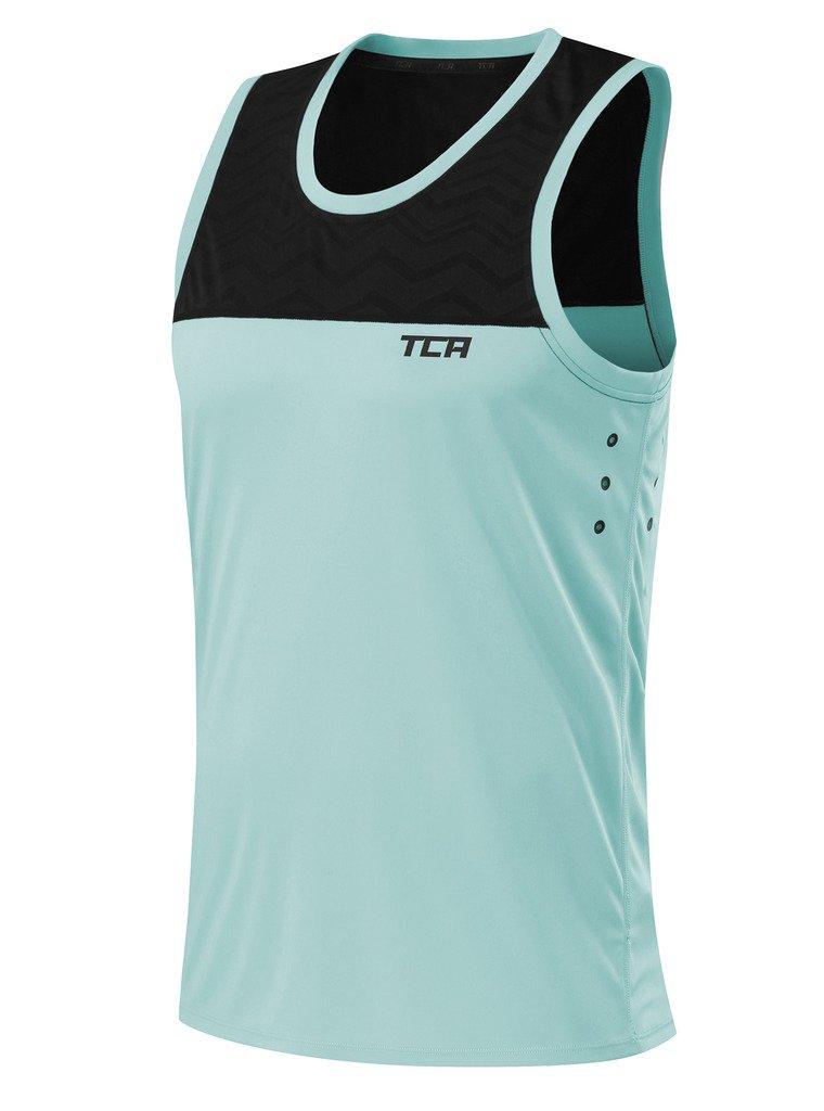 Blue Superior Materials Shirts Tca Hazard Mens Short Sleeve Training Top