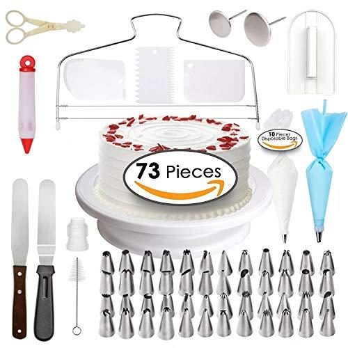 73 pcs Cake Decorating Supplies - Professional Cupcake ...