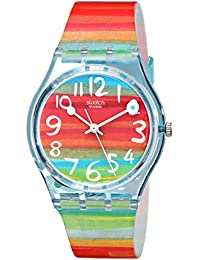 Womens GS124 Quartz Rainbow Dial Plastic Watch. Swatch