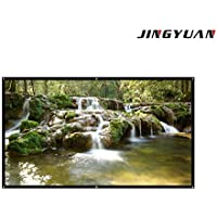 JingYuan 100 Inch Diagonal Projection 16:9 Projection, 4K Ultra HD Portable Indoor Outdoor ,Business Meetings Projector Screen