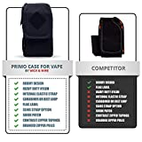 Vape Case for Travel – Secure, Organized, Premium Vape Bag – Fits Any Mechanical Box Mods, e-Juice, Battery, Tank Holder & Accessories - Wick and Wire
