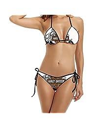 JOKEme Women's Harley Davidson Triangle Top Bikini Swimsuit
