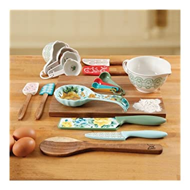 The Pioneer Woman 20 Piece Kitchen Gadget Utensil Set (Rose Shadow)