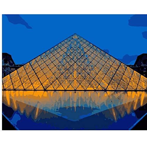 XIGZI XIGZI XIGZI Blick auf Herbst Eiffelturm Paris Malen nach Zahlen Leinwand für Wohnkultur 40X50 cm malen,Mit Holzrahmen,J B07MZ5M71G | Sonderkauf  d1145e