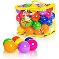 Soft Plastic Kids Play Balls – Non Toxic, 50 Phthalate &...