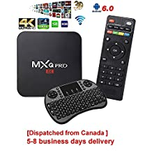 [Dispatched from Canada 5-8 business days delivery] YoungGo 2017 MXQ Pro Android TV BOX Amlogic S905X [1G/8G] Android 6.0 OS Quad Core 4K Support WiFi HDMI DLNA With Free 2.4GHz Smart Wireless Keyboard