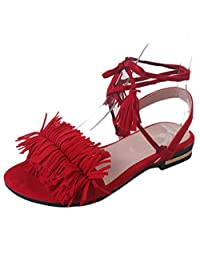 Willsa New Fashion Summer Sandals Office Low Heel Casual Lace-Up Shoes