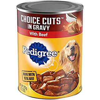 PEDIGREE CHOICE CUTS in Gravy Adult Canned Wet Dog Food with Beef, (12) 13.2 oz. Cans