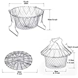 Foldable Fry Basket, 2 Pcs Multi-Function 304