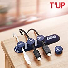 Bcase TUP Magnetic Desktop Cable Clips Cord Management Tiny 3 Size in 1 Wire Cable Organizer (Color Black)