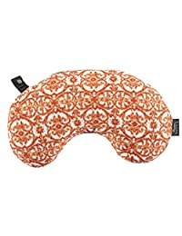 Bucky Lash Compact Travel Lightweight Car Pillow with Removable Washable Cover, Damask, Under Seat
