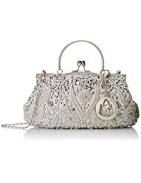 MG Collection Myra Beaded - Bolso de noche