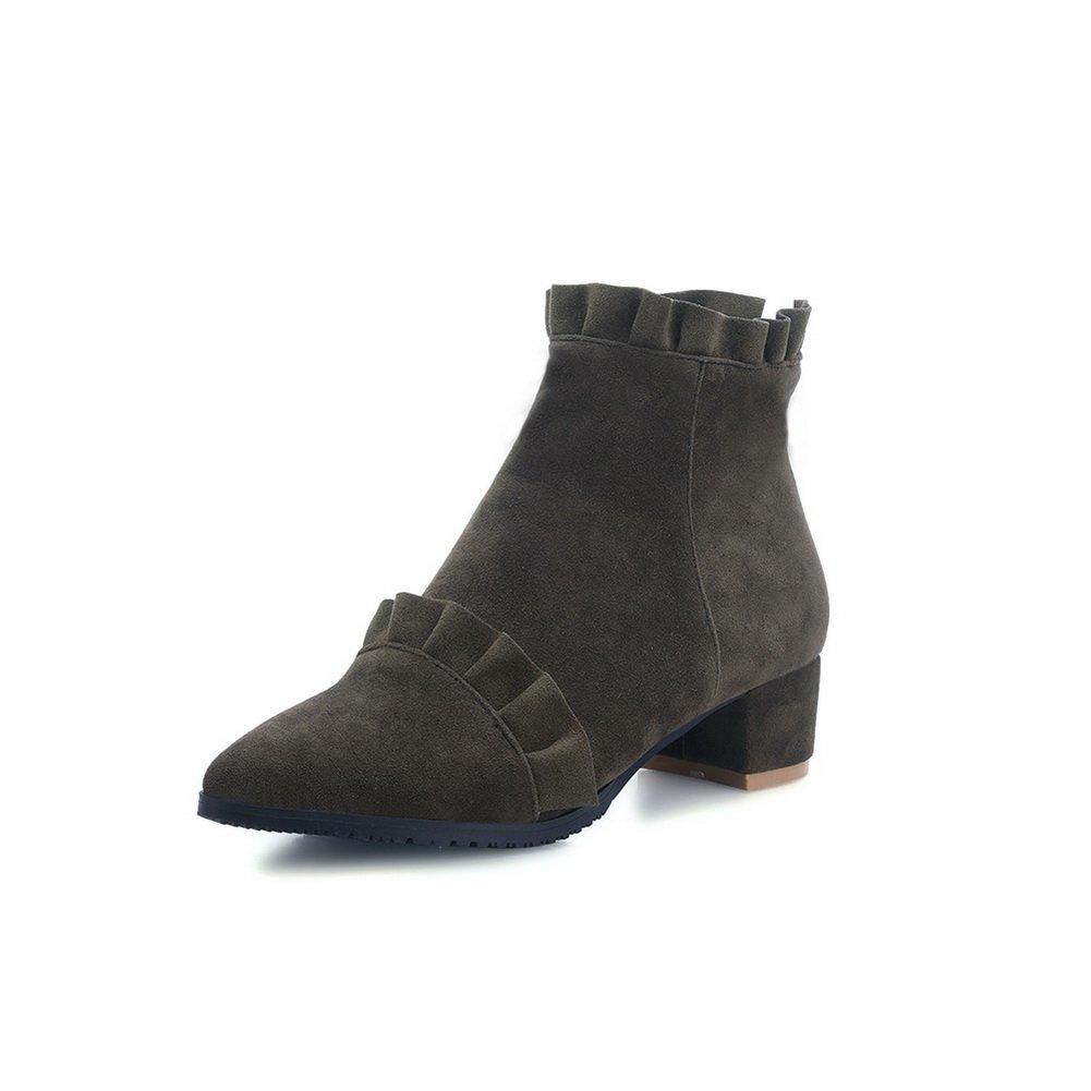 AdeeSu AdeeSu AdeeSu Girls Kitten-Heels Business Mule Imitated Leather Boots B06WD4RFKB Boots a68f1f