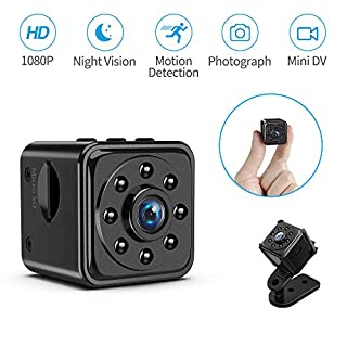 Mini Spy Camera Wireless Hidden, TAOCOCO Full HD 1080P Portable Small Covert Home/Office Nanny Cam with Motion Detection and Night Vision, Micro Security Surveillance Hidden Camera Without WiFi
