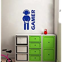 Gamer Wall Sticker Video Game Art Wallpaper Vinyl Wall Decal for Boys Room Play Room Decoration