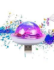 USB disco bal licht, USB bal party licht, beweegbare stroboscoop, LED auto decoratieve verlichting, voor Halloween / Kerstmis / familie party enz. (Kleur: lamp met Lightning)