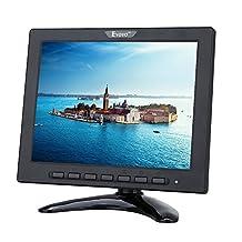 "8 inch TFT LED Monitor 1024x768 Resolution Display Portable 4:3 IPS HD Color Video Screen Support HDMI VGA BNC AV USB Input for PC CCTV Raspberry Pi (""8'' LED 1024x768 160 "")"