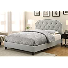 Pulaski Channing Upholstered All-In-One Bed, Queen, Trespass Marmor