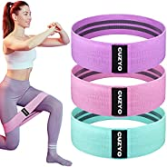 CUZYO 3 PCS Fabric Resistance Bands Set – Non-Slip Fabric Booty Bands for Working Out, Versatile & Heavy-D